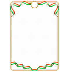 Frame and border of niger colors flag vector