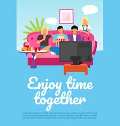 Friends leisure pastime brochure template enjoy vector