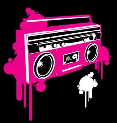 Ghetto blaster pop graf version vector