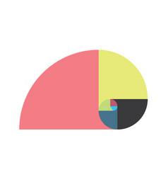 Golden ratio template fibonacci vector