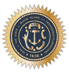 Grand seal of rhode island vector