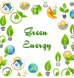 Green Energy environment protection poster vector