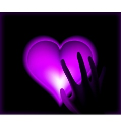 Hand in heat from purple heart cold vector