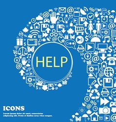 Help point sign icon Question symbol Nice set of vector