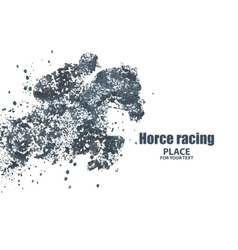 Horse racing particle divergent composition vector image