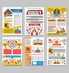house repair construction work tool posters vector image