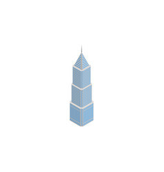 isolated building isometric exterior vector image