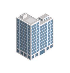 isometric city building vector image