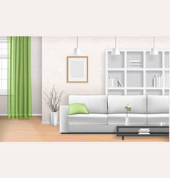 iving room interior vector image