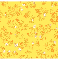 Ivy leaves doodle seamless background vector