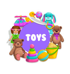kids toys banner vector image