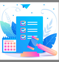 Law and justice concept in flat vector