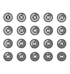 Loader timer icons set vector