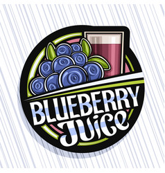 Logo for blueberry juice vector