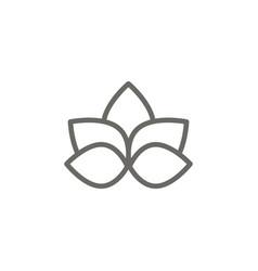 lotus flower symbol icon spiritual concept vector image