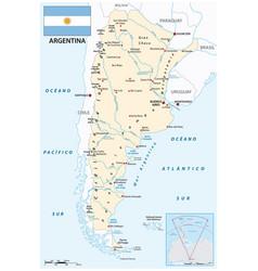 Map south american republic argentina vector