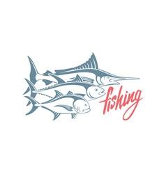 marlin tuna caranx vector image