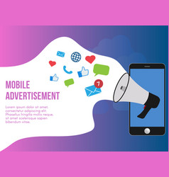 mobile advertisement concept design template vector image