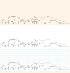naples hand drawn skyline vector image
