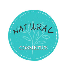 natural cosmetics logo vector image