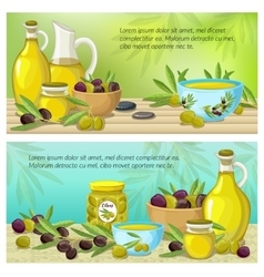 Olive Colored Banner Set vector