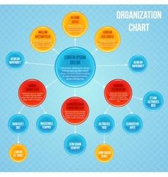 Organizational chart infographic vector image