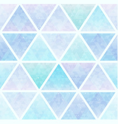 pastel triangle seamless pattern vector image