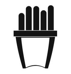 portion of french fries icon simple style vector image