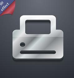 Printing icon symbol 3D style Trendy modern design vector