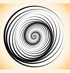 random concentric circles abstract geometric vector image