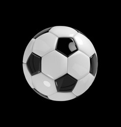 realistic soccer ball or football ball on black vector image