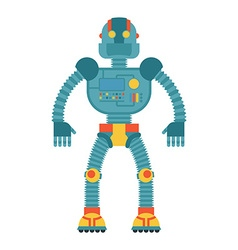 Robot retro toy cyborg technological machine vector