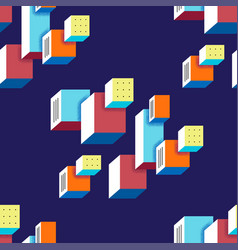 Seamless trendy pattern in the style of bauhaus vector