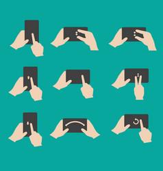 Set hand gestures vector