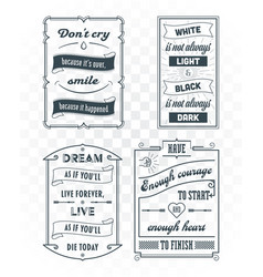 set vintage template quotes 03 vector image