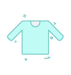 shirt icon design vector image