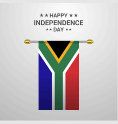 south africa independence day hanging flag vector image