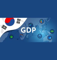 South korea gdp gross domestic product of korean vector