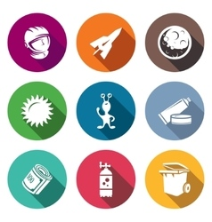 Space flight Icons Set vector image