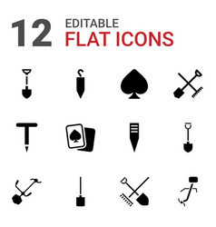 Spade icons vector