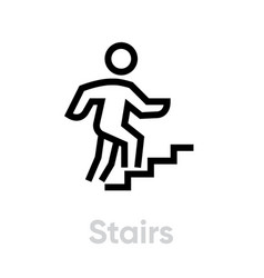 stairs activity icon vector image