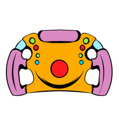 steering wheel icon icon cartoon vector image