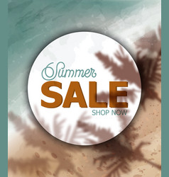summer tropic seaside watercolor sea cost and vector image