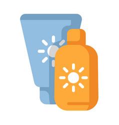 Sunscreen flat vector