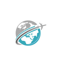 Travel around world vector