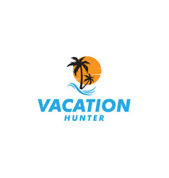 vacation hunter graphic design template isolated vector image