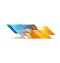 vibrant blue orange abstract tech geometric banner vector image