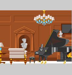 Vip vintage interior furniture rich wealthy house vector