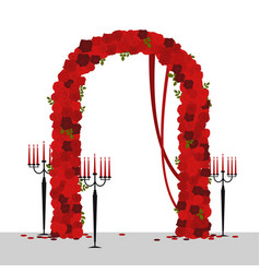 Wedding arch with roses vector
