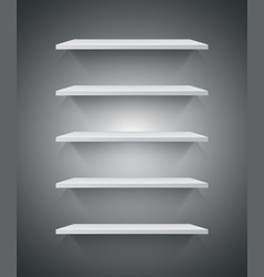 white 3d shelf icon vector image